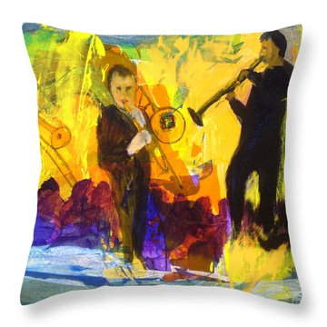 Club Cuba Throw Pillow by Keith Thue