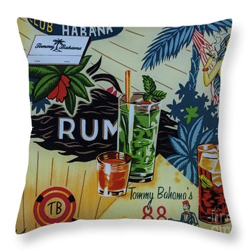 Club Habana Throw Pillow