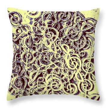 Club Of Clefs Throw Pillow