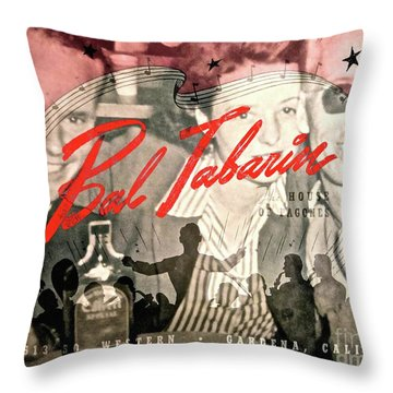 Clubbing In The 50s Throw Pillow by Gwyn Newcombe