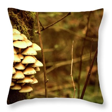 Cluster O Shrooms Throw Pillow