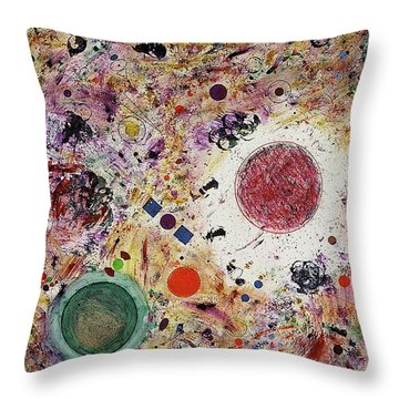 Throw Pillow featuring the painting Cluster Of Love by Michael Lucarelli