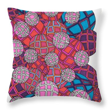 Cluster Of Spheres Throw Pillow