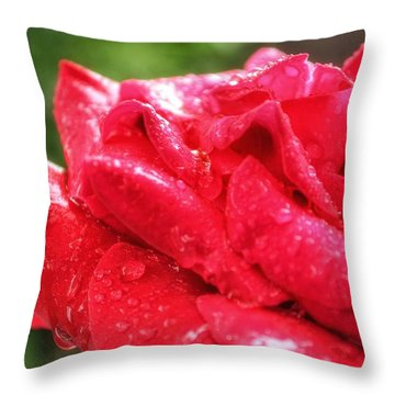 Clustered Petals Throw Pillow