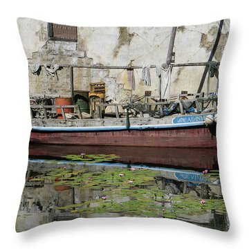 The Cluttered Craft Throw Pillow