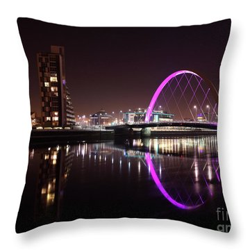 Clyde Arc Night Reflections Throw Pillow