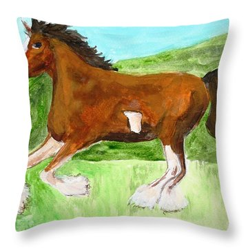 Clydesdale Throw Pillow