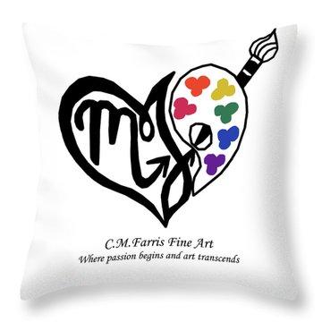 Cmfarris Logo Brand Throw Pillow