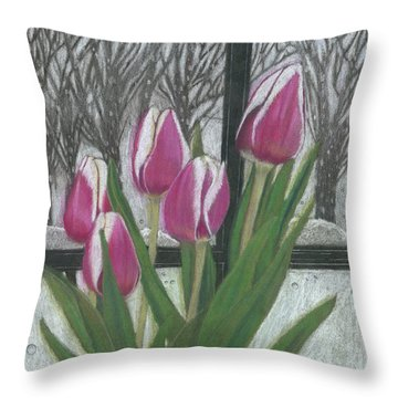 C'mon Spring Throw Pillow by Arlene Crafton
