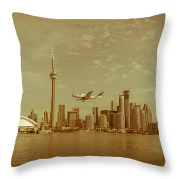 Cn Tower Drive-by Throw Pillow