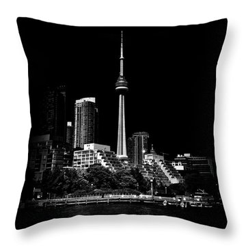 Throw Pillow featuring the photograph Cn Tower From Bathurst Quay Toronto Canada by Brian Carson