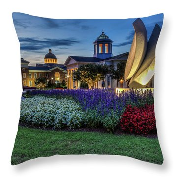 C N U Campus From Avenue Of The Arts Throw Pillow