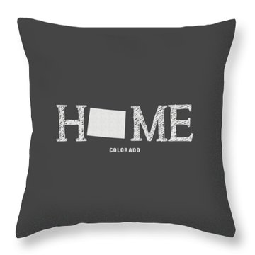 Throw Pillow featuring the mixed media Co Home by Nancy Ingersoll