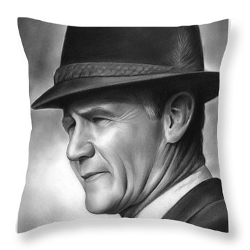 Coach Tom Landry Throw Pillow by Greg Joens