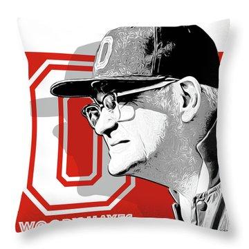Coach Woody Hayes Throw Pillow