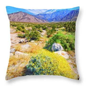 Coachella Spring Throw Pillow by Dominic Piperata
