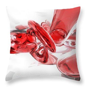 Coagulation Abstract Throw Pillow by Alexander Butler