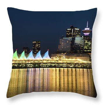 Coal Harbour Blue Hour Throw Pillow