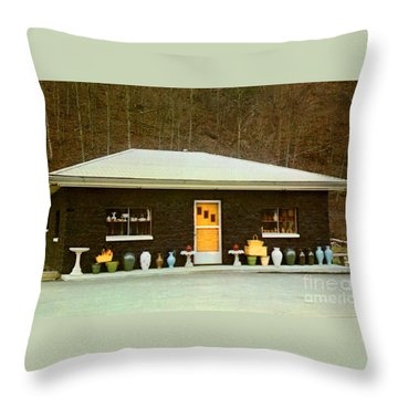 Coal House  Throw Pillow by Ruth  Housley