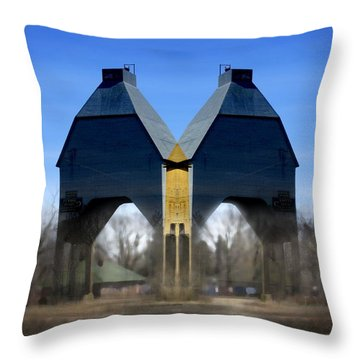 Coal Loader New Buffalo Throw Pillow by John Hansen