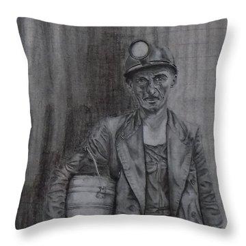 Coal Miner Throw Pillow