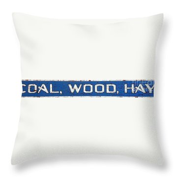 Coal Wood Hay Throw Pillow by Olivier Le Queinec