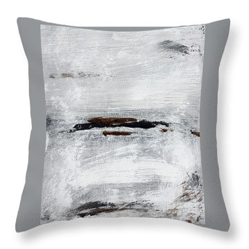 Coast # 10 Seascape Landscape Original Fine Art Acrylic On Canvas Throw Pillow