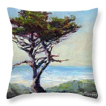 Coast Cypress Throw Pillow