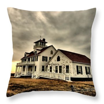 Coast Guard Beach Station Throw Pillow