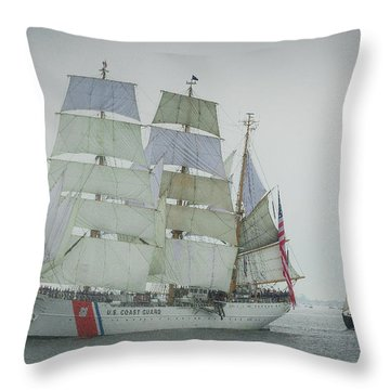 Coast Guard Eagle Throw Pillow by Mike Ste Marie