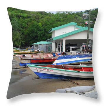 Throw Pillow featuring the photograph Coast Line by Gary Wonning