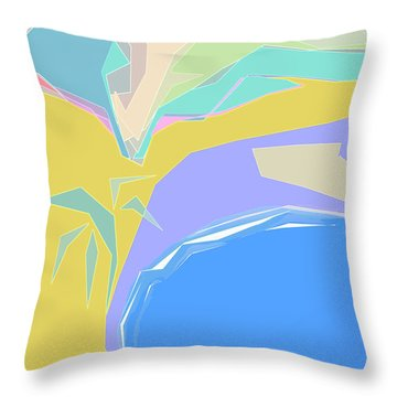 Throw Pillow featuring the digital art Coast Of Azure by Gina Harrison