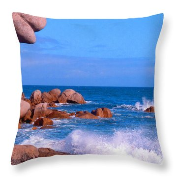 Coast Of Brittany Throw Pillow