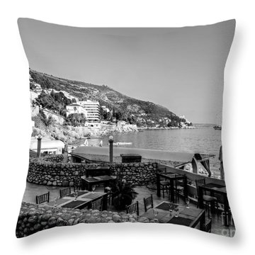 Coast Of Dubrovnik Throw Pillow