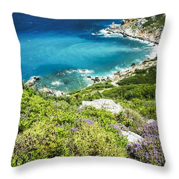 Coast Of Greece Throw Pillow