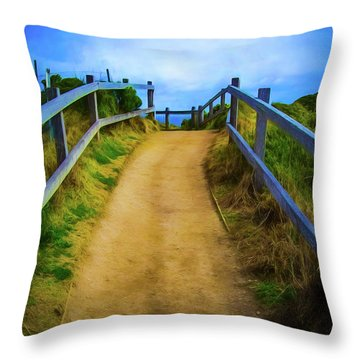 Throw Pillow featuring the photograph Coast Path by Perry Webster