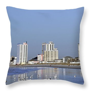 Coastal Architecture Throw Pillow