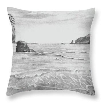 Coastal Beach Throw Pillow