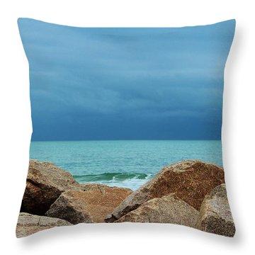 Coastal Blues Throw Pillow