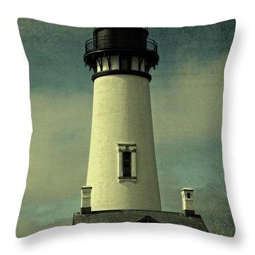 Coastal Breeze At Yaquina Head Throw Pillow