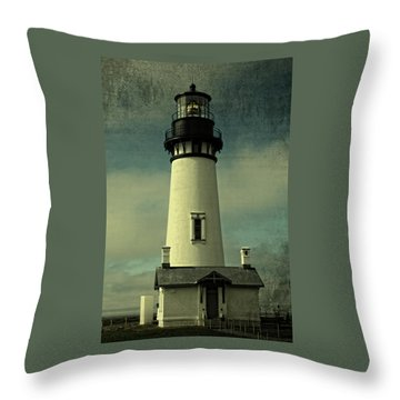 Coastal Breeze At Yaquina Head Throw Pillow