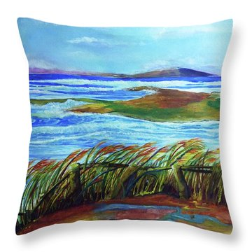 Coastal Winds Throw Pillow