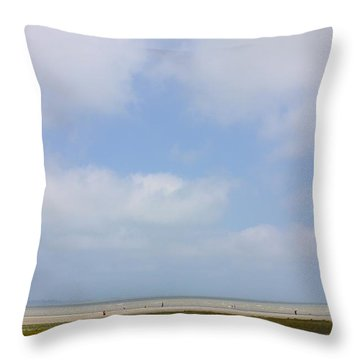 Coastal Brittany Throw Pillow by Colleen Williams