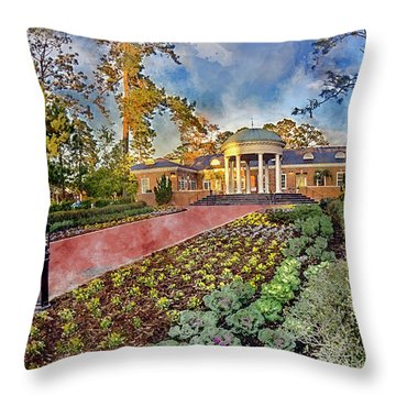Coastal Carolina University Digital Watercolor Throw Pillow
