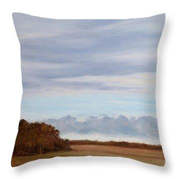 Coastal Clouds Throw Pillow