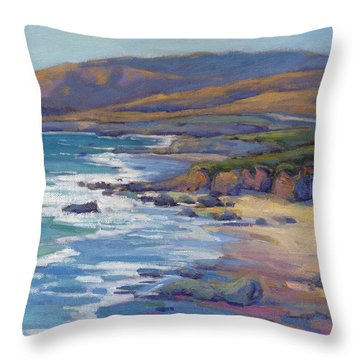 Coastal Cruising 8 / San Simeon Throw Pillow