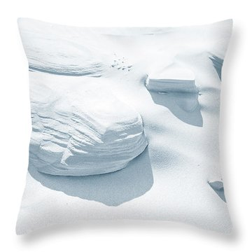 Throw Pillow featuring the photograph Coastal Dunes. Series Ethereal Blue by Jenny Rainbow