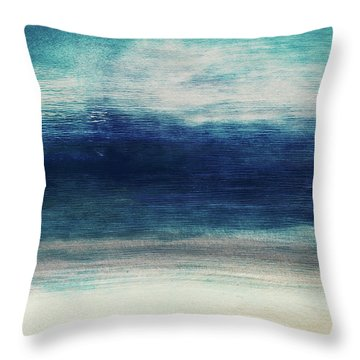 Coastal Escape 2- Art By Linda Woods Throw Pillow