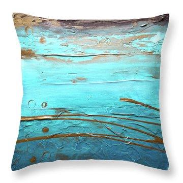 Coastal Escape I Textured Abstract Throw Pillow