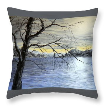 Coastal Evening Throw Pillow